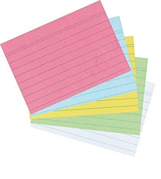 Ficha en papel