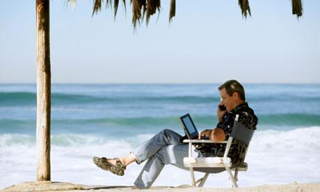 Un ambiente tranquilo y distendido es perfecto para terminar un curso en línea en horas