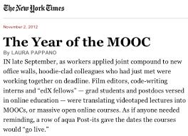 The year of the MOOC fué publicado por NYT