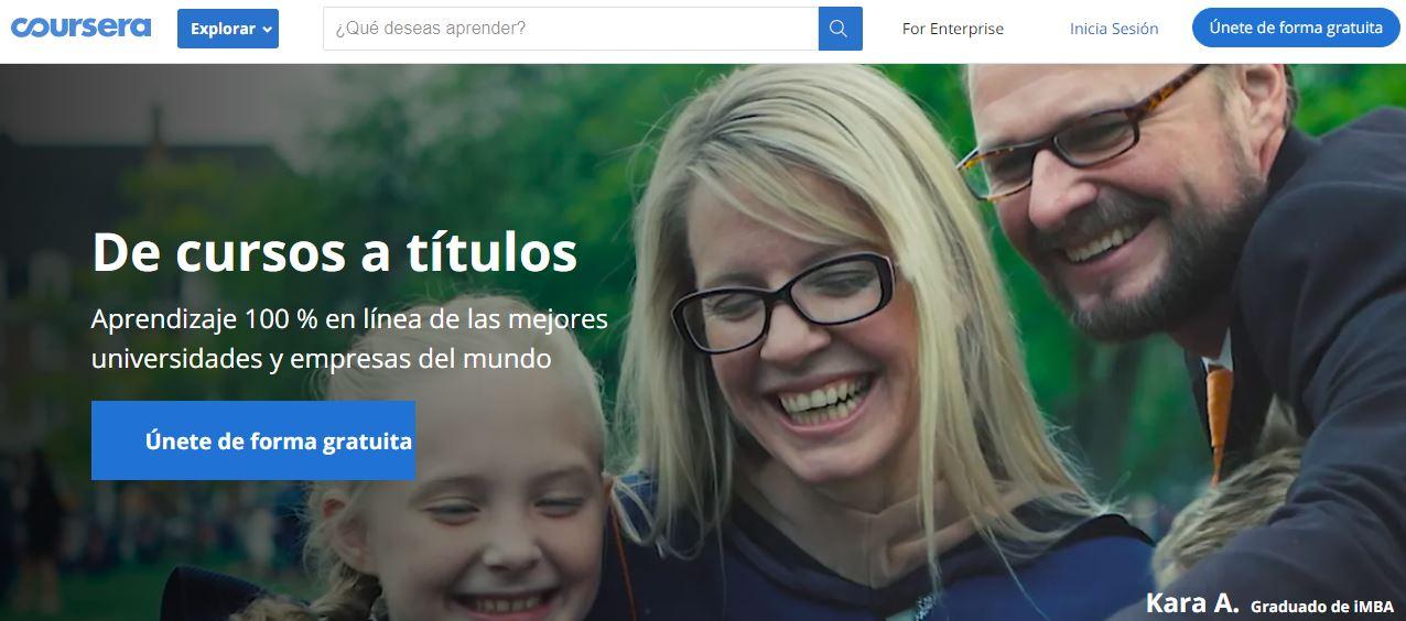 Coursera tiene pocos cursos gratis en español