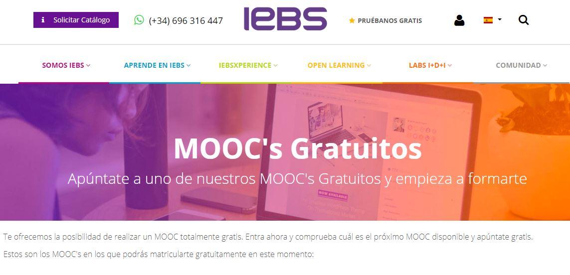Cursos gratis en linea de IEBS