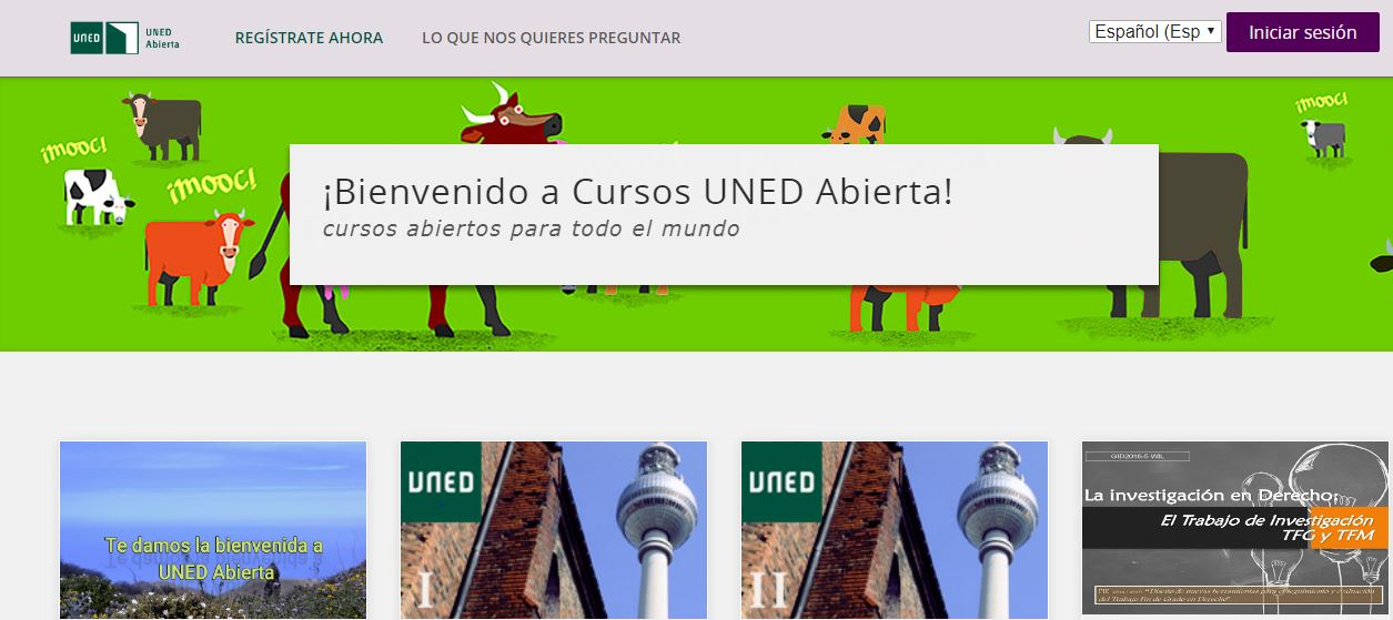 Cursos gratis en linea de la UNED