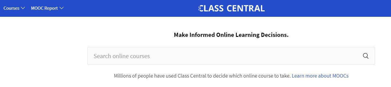 ¿Qué es un catálogo de cursos? Catálogo de cursos de Class Central