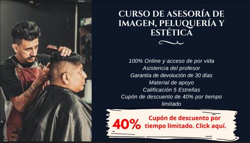 Curso de barbería 40% descuento